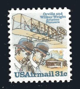 U.S. STAMP #C92 31c WRIGHT BROTHERS AIRMAIL — VF - MINT - GRADED 80