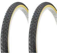 "2-26x1.75/"" BLACK GUM WALL BMX tire old school bike BICYCLE #266482"