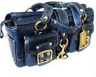 COACH Ltd Ed MIDNIGHT BLUE GENUINE PYTHON LEATHER LEGACY TOTE BAG SATCHEL PURSE