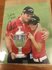 Patrick Reed / Justine Reed Dual Autographed 8 X10 Photo
