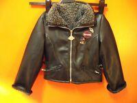 Fleece Lined Harley Davidson Black Child Size 5 Jacket Great Price!