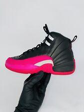 Nike Air Jordan Retro 12 XII GG Black & Deadly Pink Size 5.5Y  510815 026