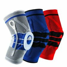Spring Knee Brace With Silicone Support Sport Strong Protection Compression Pad