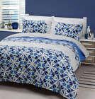 Tasman Blue 225TC Percale DOUBLE Size Quilt Doona Cover Set