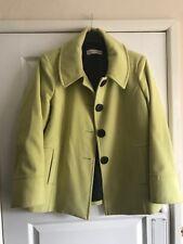 Ladies Lovely Spring Green Short Coat - Size UK 18 - VGC