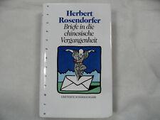 BRIEFE IN DIE CHINESISCHE VERGANGENHEIT H. Rosendorfer gebunden 1995  320