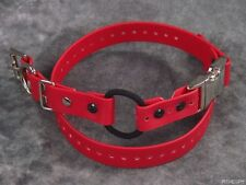 "1"" Red Biothane Dog Buckle Bungee E-Collar Remote Trainer Quick Snap Strap"