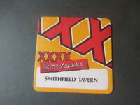 1 only CASTLEMAINE XXXX / SMITHFIELD TAVERN special Issue collectable COASTER