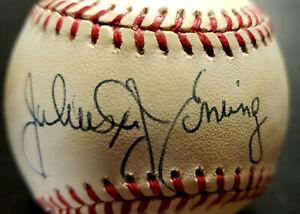 Julius Erving Autographed MLB Baseball (Extremely Rare) Crisp Sharp Signature