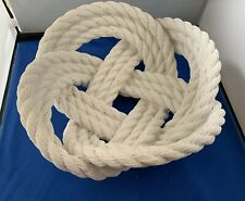 Areaware Reality Series Harry Allen Rare White Knotted Rope Art Bowl Nautical