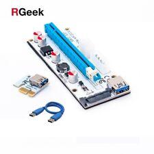 PCI-E EXPRESS 1x a 16x USB Scheda riser Adattatore Cavo Molex/6pin/SATA