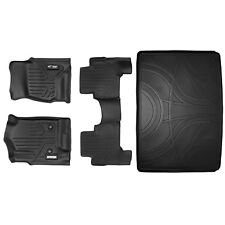 All Weather Floor Mats (2 Rows) and Cargo Liner Bundle for ESCALADE ESV (Black)