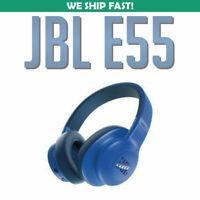 JBL E55BT Over-ear Wireless Headphones Blue USED 050036332408 JBLE55BTBLU  USED
