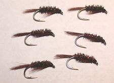 6 No. Black Diawl Bach- red holographic rib and jungle cock sub-size 12 REF N50