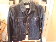 Women's Dark Blue Denim Levi Jacket Sz XS
