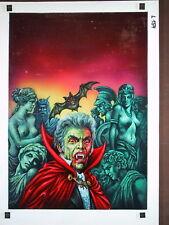 Originalzeichnung Vampir Horror Roman Heft 231 Lutohin - Dracula? Der Blutgraf