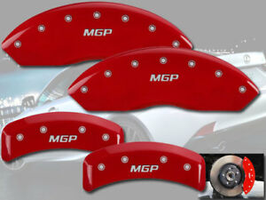 "2008-2011 Lexus GS450h GS460 Front + Rear Red ""MGP"" Brake Disc Caliper Covers"