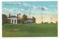 Municipal Golf Course PERU IN Vintage Indiana Postcard