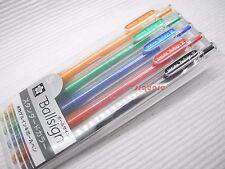 Sakura Ballsign Knock Standard 0.4mm Retractable Gel Rollerball Pen, 5 Colours
