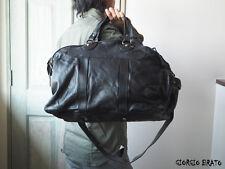 NW GIORGIO BRATO leather bag BS17F2417V black Duffle Bag Luggage MADE Italy .