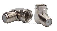 Sat Antennen-L-Stück F Winkeladapter Antenne Kabelverbindung Metall #2561 Winkel