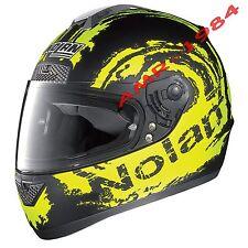 "CASCO NOLAN N63 - N 63 SKETCH NEGRO MATE AMARILLO FLUO' Col.55 TALLA ""XS"" n63"
