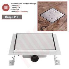 """150 mm """"Square"""" in acciaio inox di marca rivestimento di drenaggio per cantine"""