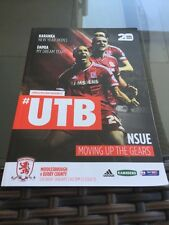 Middlesbrough V Derby County 2016 Soccer/football Programme