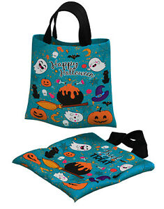 Halloween Party bag Gift Trick or Treat Bag Kids Children Fabric Sweet, Candy
