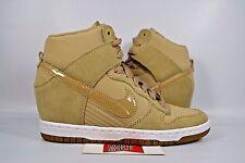 NEW Women's Nike Dunk Sky Hi Essential DESERT CAMO BROWN 644877-200 sz 5.5