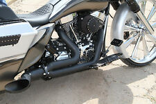 COVINGTONS BLACK DESTROYER EXHAUST HARLEY TOURING BAGGERS 1995-2016, C1600-B