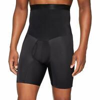 Compression High Waist Boxer Shorts Tummy Slim Body Shaper Girdle Pants For Men