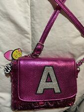 "Pink Sequin Initial ""A� Purse By Justice"