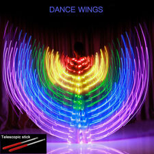 LED With Controller Isis Wings Belly Dance Cosplay Glow Show Light Up Costume