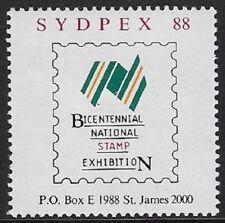 Australia Cinderella stamp: 1988 'Sydpex', Bicentennial Stamp Exhib - cw43.59