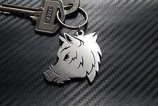 WILD BOAR Sanglier Chasse Hunting Swine Pig Animal Keyring Keychain Key Fob Gift