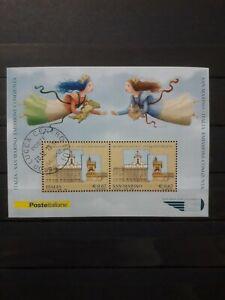 2006 ITALIA FOGLIETTO CONGIUNTA CON SAN MARINO LE DUE REPUBBLICHE,  USATO