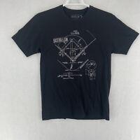Baseballism Mens Baseball Diamond Graphic Black Short Sleeve T-Shirt Medium