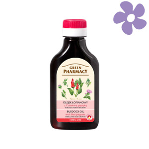 GREEN PHARMACY BURDOCK OIL WITH RED PEPPER - STIMULATES HAIR GROWTH 100ML