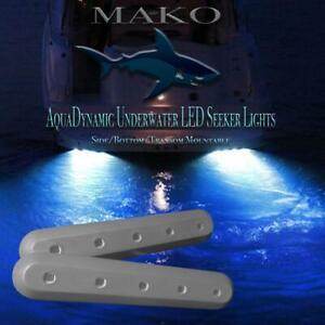 Deep Blue 10k Lumen Underwater LED High Powered Marine Transom Hull Boat Lights