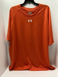 Under Armour UA Men's Short Sleeve Shirt 3X Orange NEW