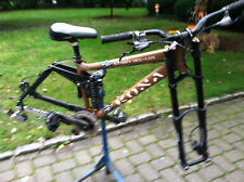 Kona Stinky Dee-lux downhill mountain bike brown full suspension bicycle frame