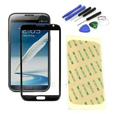 Replacement Screen Glass Lens Black +Tool Kit For Samsung Galaxy Note2 II N7100