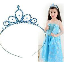 Girls Blue Princess Crystal Frozen Elsa Inspired Head Hair Tiara Crown headband