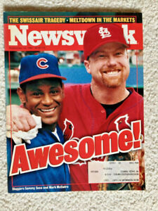 SAMMY SOSA & MARK McGWIRE NEWSWEEK MAGAZINE September 14, 1998 • NEAR MINT