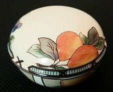 "Vintage,MIKASA,Garden Harvest,3"" Round,Trinket/Jewelry/Keepsake/Vanity/Ring Box"