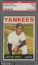 1964 Topps #325 Hector Lopez New York Yankees PSA 7 NM