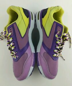 Womens Brooks Walking Shoes Fusion Heritage Purple Yellow Size 7 Sample #331