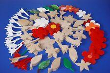 Konvolut aus 145 Holz Formen zum Bemalen / Blumen und Blätter / Handarbeit