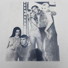 Vintage 10x8 STAR TREK Glossy Photograph Mr Spock & Captain Kirk + Others